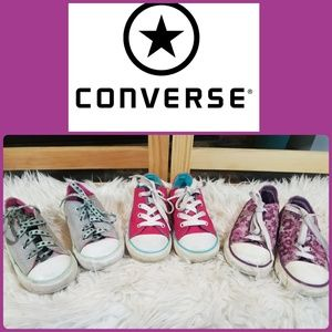 BUNDLE OF CONVERSE ALL STAR GIRLS  CANVAS LOW TOP